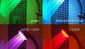 Salle de bains DEL, couleurs changeantes Chrome Douche Head Light