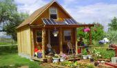 Comment construire un 14 × 14 Cabin solaire pour moins de $ 2000