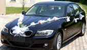 Mariage - la voiture pour les jeunes mariés décorer de façon
