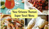 Menu de Super Bowl Party Avec la Nouvelle-Orléans Thème