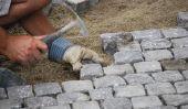 Embarrassé pierres de granit de pavage de la cour elle-même - comment cela fonctionne: