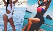 Posant facile: regarder des photos de bikini comme une étoile