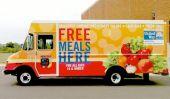 Food Truck apporte Repas d'été à des enfants défavorisés