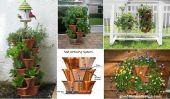 Empilable Planters avec Système d'arrosage