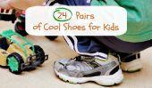 24 paires de chaussures élégantes scolaires pour enfants pour les emmener de classe de jeux pour enfants