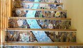 Magnifique mosaïque Escalier