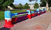 La clôture de l'Université Carnegie Mellon: l'objet le plus peint dans le monde