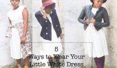 5 façons de porter votre petite robe blanche cet automne!