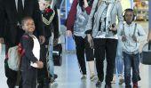 Madonna et enfants Spotted: l'anniversaire de Madonna à Hamptons (Photos)
