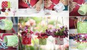 De bouteilles en plastique bricolage Hanging Tutorial Vase
