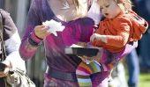 Obtenez ceci: Celeb Kids in Striped Collants!  Bonjour Ensoleillé James!