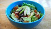 Salade verte avec Bacon, poires et vinaigrette au babeurre