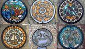 L'art de Covers Manhole japonaise