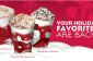 Starbucks: acheter un en obtenir un gratuitement Boissons vacances !!