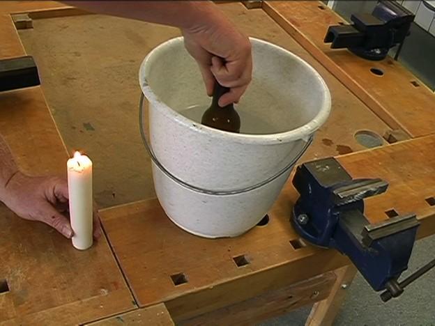 Couper les bouteilles en verre de sorte qu 39 il fonctionne for Couper bouteille en verre
