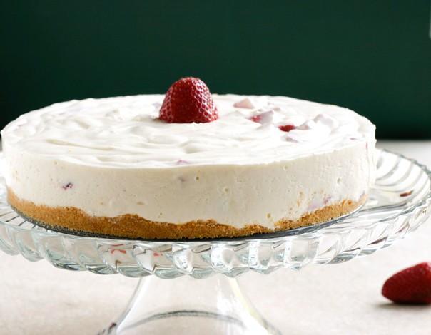Le plus facile sans cuisson Strawberry Cheesecake