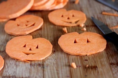 Jack-O-Lantern frites de patates douces