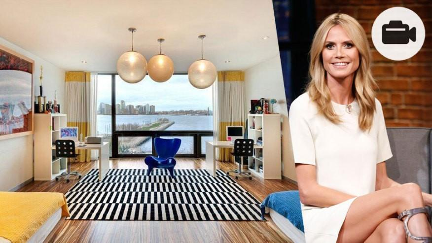 euro loyer nouvelle maison de r ve de heidi klum new york dans la vid o. Black Bedroom Furniture Sets. Home Design Ideas