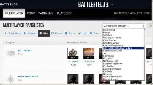 Battlefield 3: Voir les classements mondiaux - donc il va
