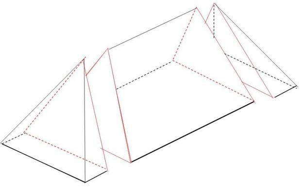 Calculer le volume d 39 un toit en croupe - Calculer la pente d un toit ...