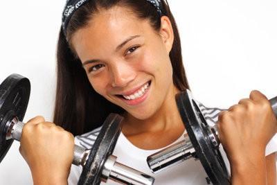 Upper exercice des armes à la maison - de sorte que vous êtes en forme