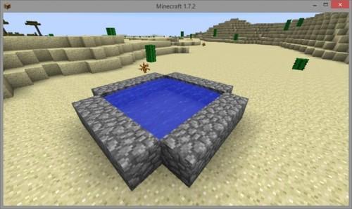 Pour Minecraft éliminer l'eau - alors allez-y