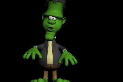 Maquillage pour Halloween - un maquillage Frankenstein réussit donc