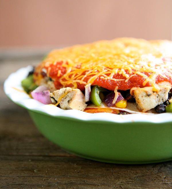Enchiladas au poulet Pie