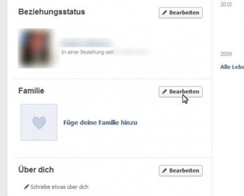 Avec Facebook préciser le degré de parenté