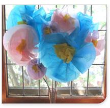 Crafts printemps pour les enfants: Les mangeoires à oiseaux, fleurs en papier, et au pochoir t-shirts