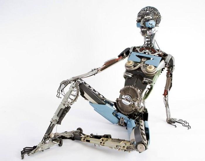 Jeremy Mayer Builds Robots recyclé Machines à écrire