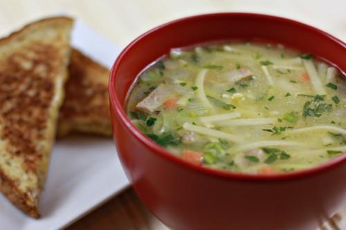 Rainy Day Turquie soupe de nouilles
