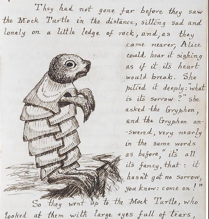Alice au pays des merveilles manuscrit original