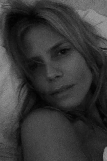 Heidi Klum séduisante sans maquillage