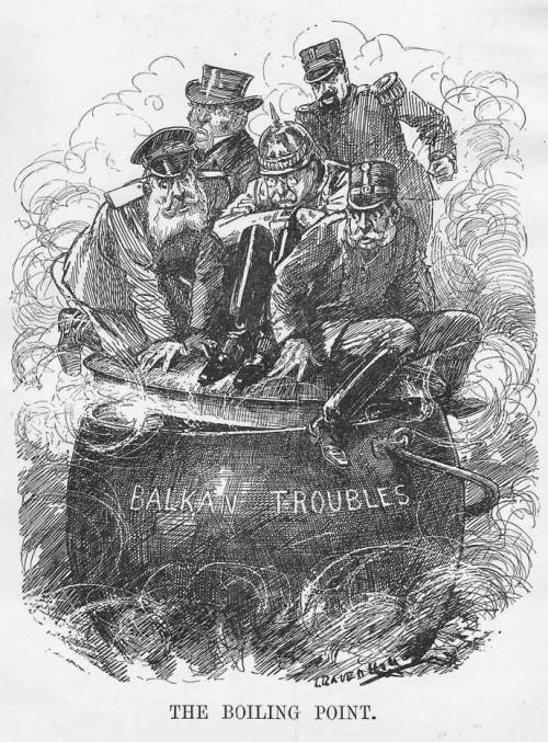 Cartoon: Troubles des Balkans - informatif