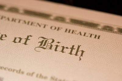 Perdu certificat de naissance - de sorte que vous obtenez une nouvelle