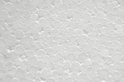 Polystyrène colle - qui doit être observé