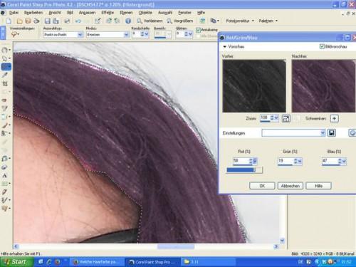 Qu'est-ce que la couleur des cheveux convient yeux bleu-vert?  - Donc, vous pouvez le tester avec l'ordinateur