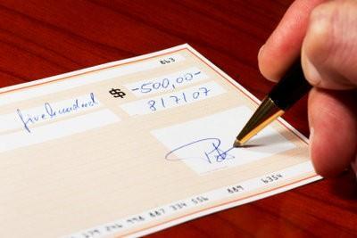 Encaissement de chèques en ligne - de sorte qu'il peut réussir