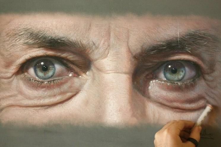 Hyper réalistes Pastel Portraits par Ruben Belloso Adorna