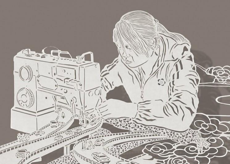 Complexes Paper Cut Dessins de Bovey Lee