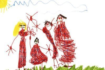 Les enfants interprètent images et de comprendre