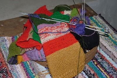 fil de ruban - modèle de tricot pour un foulard