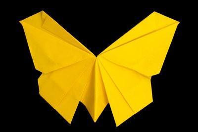 Pliage de serviettes - il est donc un papillon