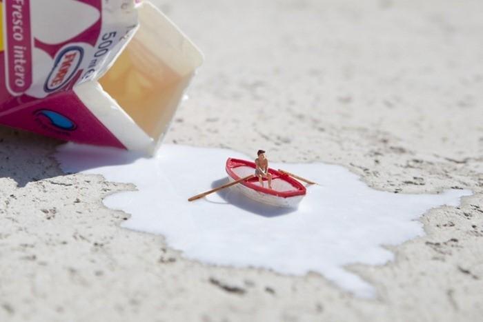 Street Art miniature de Slinkachu