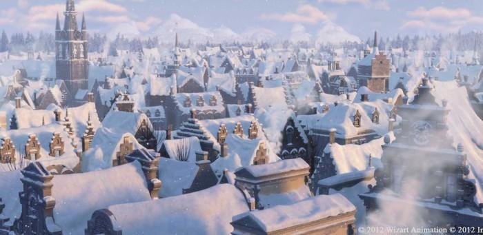 Films qui font de congélation, temps neigeux peu plus supportable