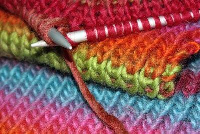 Tricoter dernière rangée - afin de gérer votre écharpe