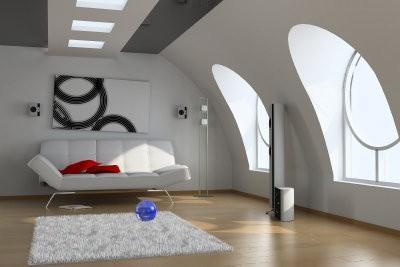 Décoration d'une pente - afin penthouses sont confortablement