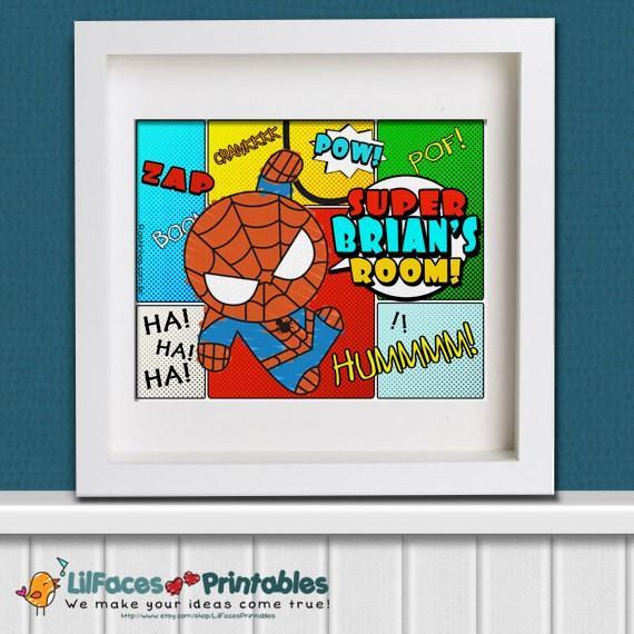 Essayer de trouver un compromis dans une Chambre Spider-Man à thème