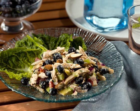 Salade Blueberry poulet aux amandes